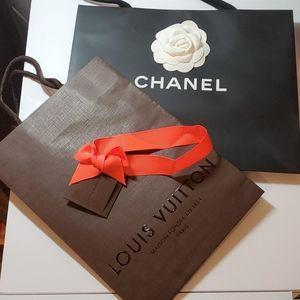 Chanel & Louis Vuitton paper bags